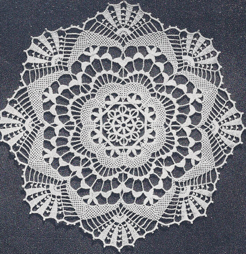 Vintage Crochet PATTERN to make Cluny Lace Doily