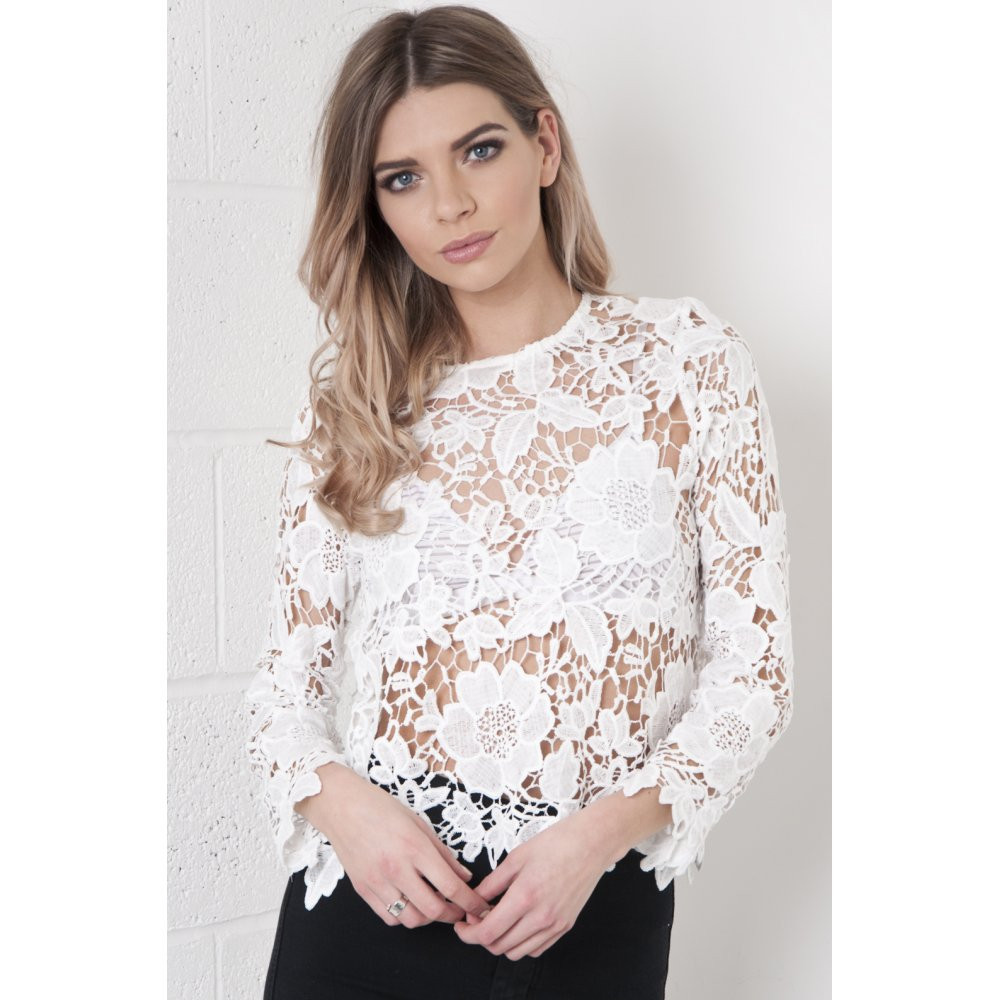 white lace crochet top Crochet and Knit