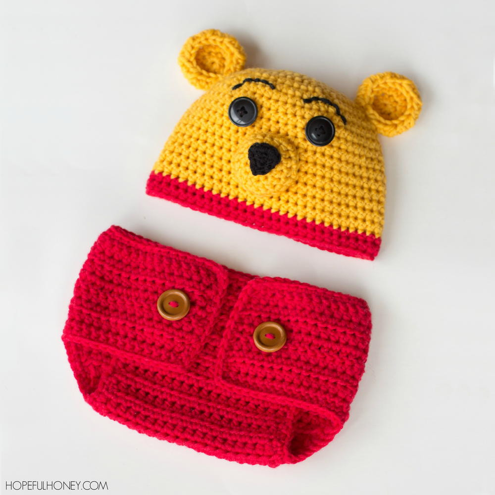 New Winnie the Pooh Inspired Hat & Diaper Cover Set Winnie the Pooh Crochet Pattern Of Amazing 47 Photos Winnie the Pooh Crochet Pattern