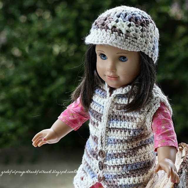 New with A Grateful Prayer and A Thankful Heart American Girl Girls Crochet Vest Of Charming 44 Pictures Girls Crochet Vest