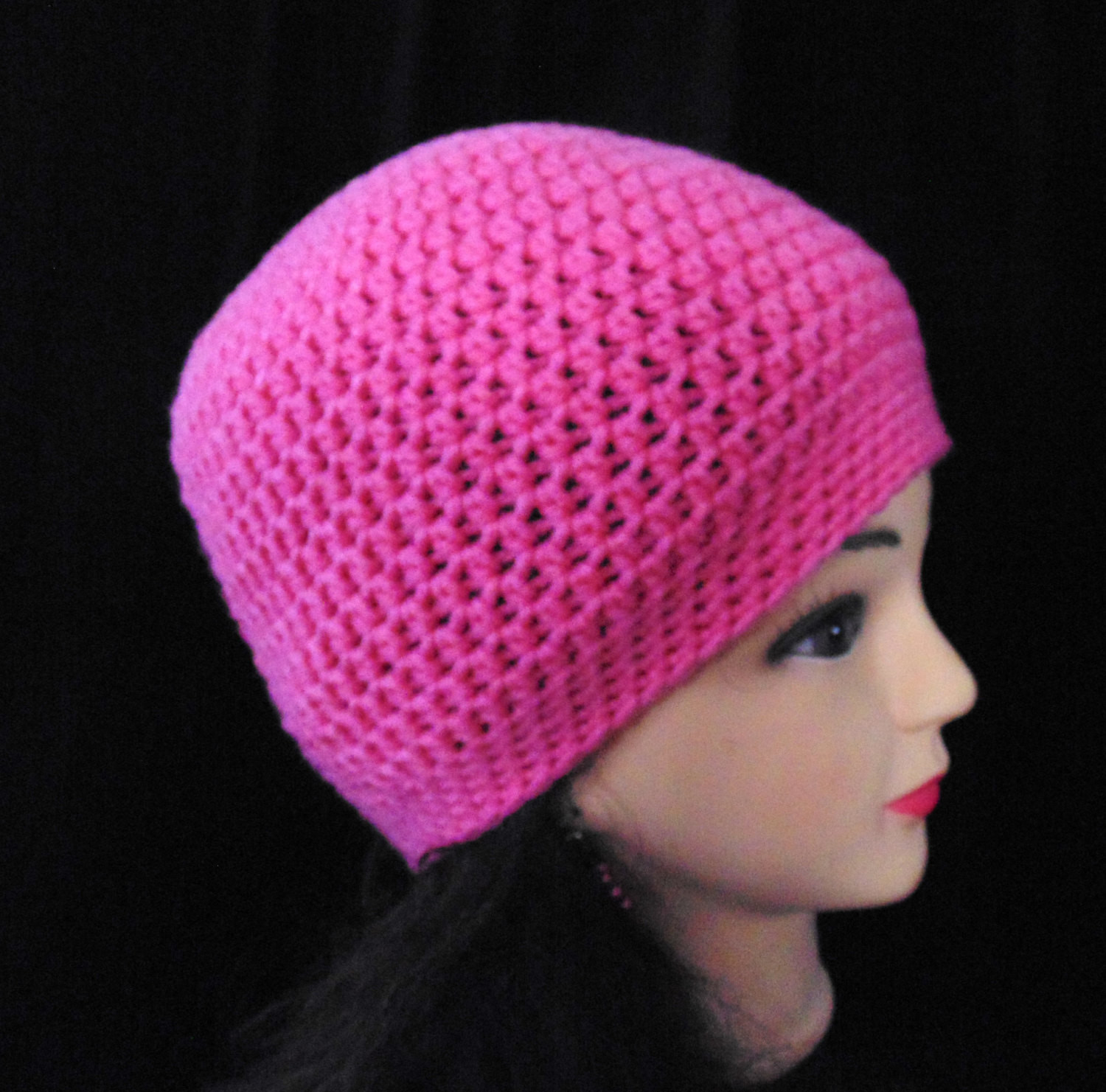 New Womans Pink Crochet Beanie Hat for Winter or Spring Pink Crochet Hat Of Great 43 Models Pink Crochet Hat