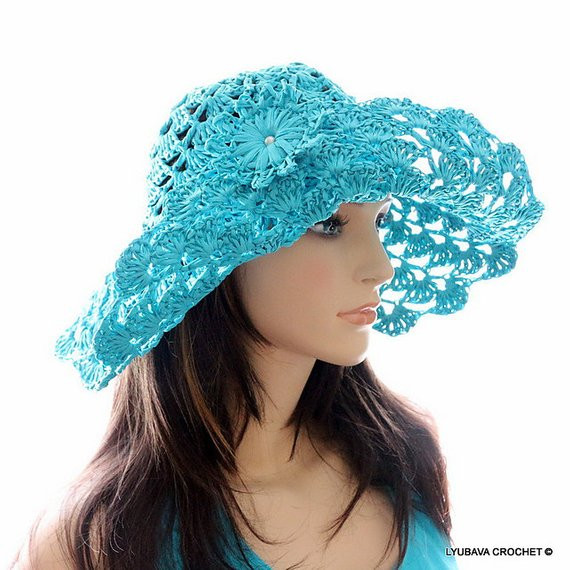 New Women S Sun Hat Floppy Beach Hat Crochet Hat with Brim Crochet Summer Hat Pattern Of Incredible 46 Photos Crochet Summer Hat Pattern