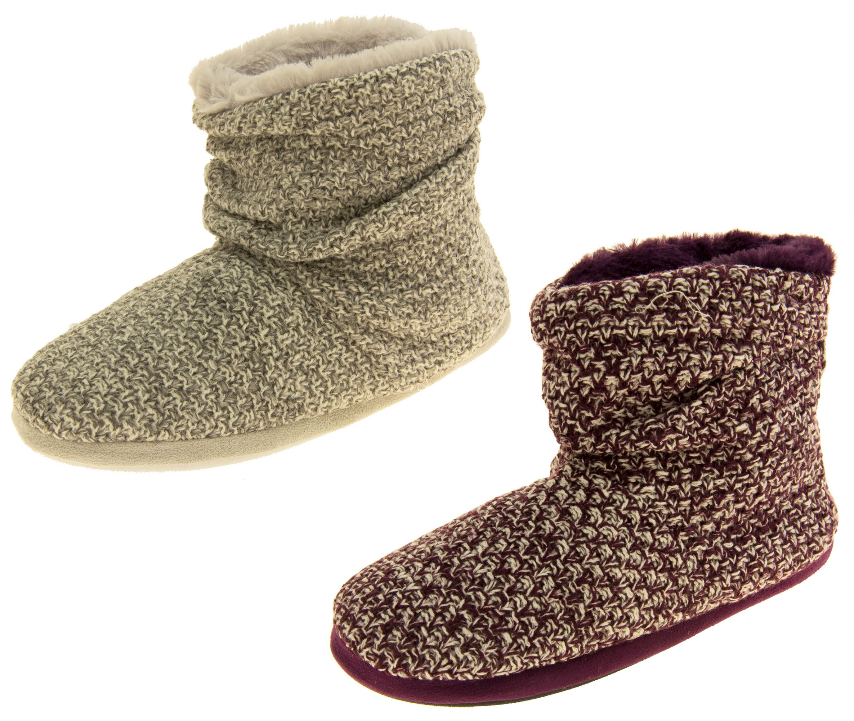 New Womens Coolers Warm Knitted Winter Fur Lined Slipper Boots Knitted Slipper Boots Of Superb 41 Pics Knitted Slipper Boots