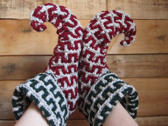 New Womens Elf Slippers Crochet Slipperschristmas House Shoes Crochet Elf Slippers Of Luxury 41 Pictures Crochet Elf Slippers