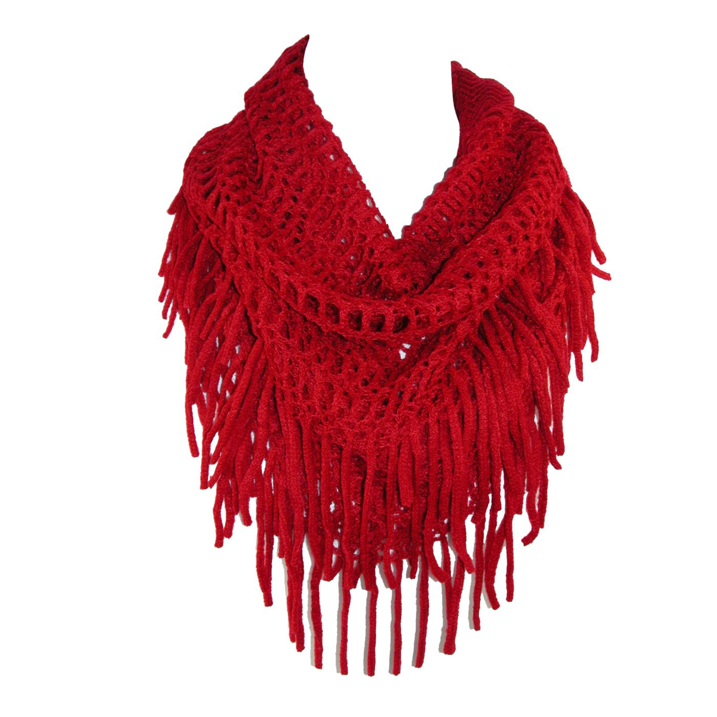 New Womens Fringed Loose Knit Infinity Loop Scarf by Ctm Scarf Fringe Of Innovative 50 Pics Scarf Fringe