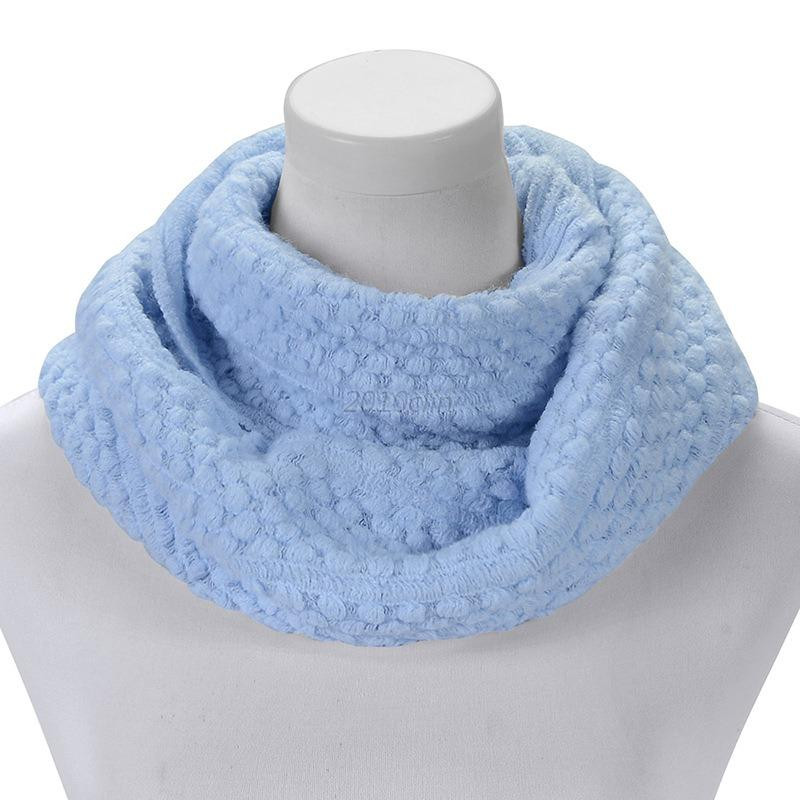 New Womens Girls Knitted Circle Scarf Warm soft Winter Neck Knit Circle Scarf Of Brilliant 47 Photos Knit Circle Scarf