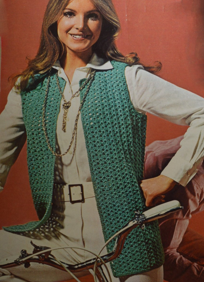 New Womens Vintage Crochet Pattern Sleeveless Vest Jacket Womens Crochet Vest Of Amazing 47 Pics Womens Crochet Vest