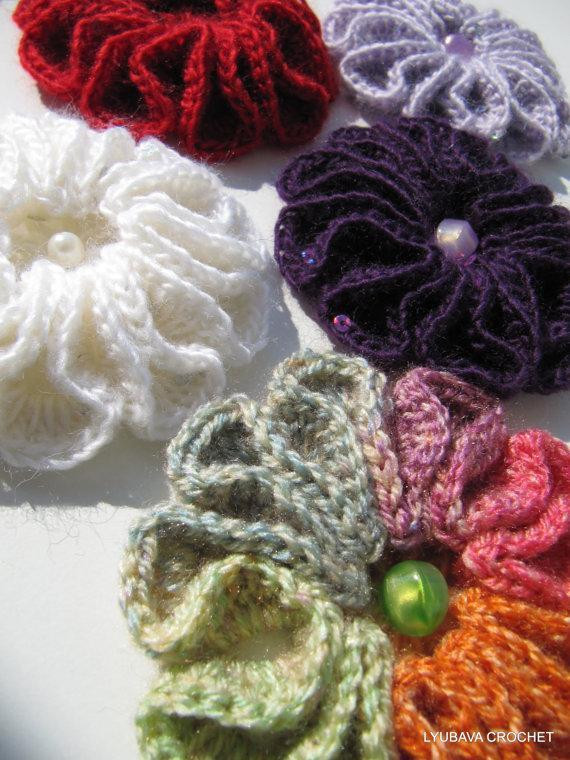 """New You Have to See Crochet 3d Flower Broosh """"scarlet"""" On Craftsy Crochet 3d Flower Of Awesome 46 Pics Crochet 3d Flower"""