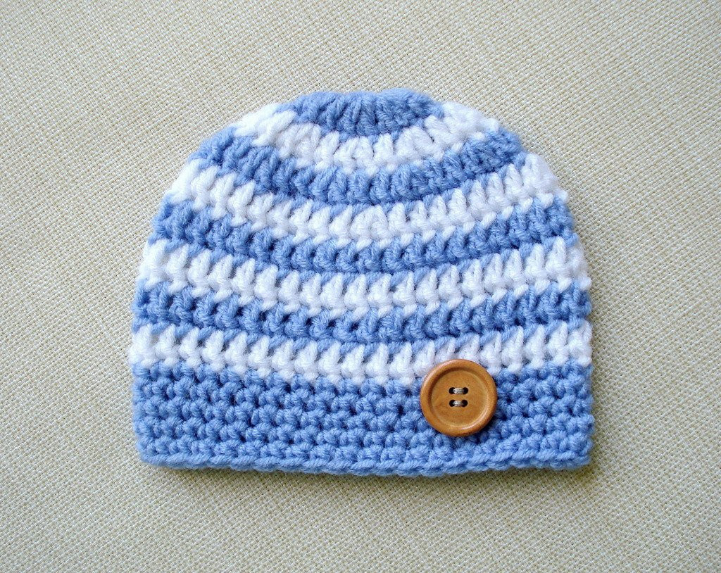 Baby boy beanie Crochet newborn hat for Boy Newborn photo prop