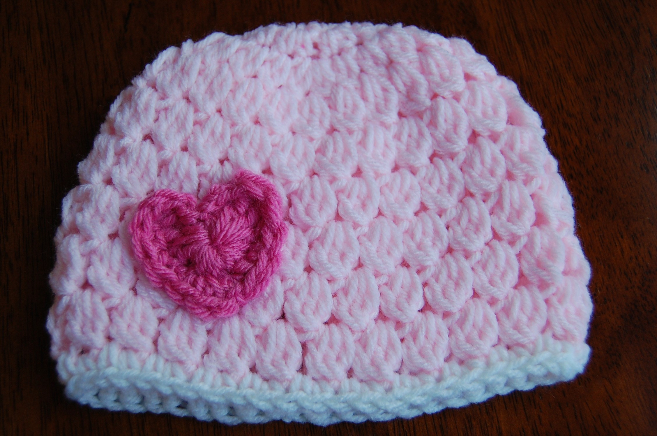 Newborn Baby Hat Crochet Pattern Awesome Free Girl S Crochet Hat Pattern with Heart Of Superb 44 Pictures Newborn Baby Hat Crochet Pattern