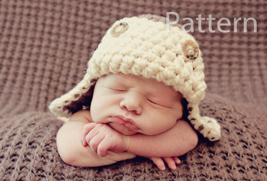 Newborn Baby Hat Crochet Pattern Beautiful Pdf Crochet Pattern Aviator Hat Baby Boy Hat Crochet Baby Of Superb 44 Pictures Newborn Baby Hat Crochet Pattern