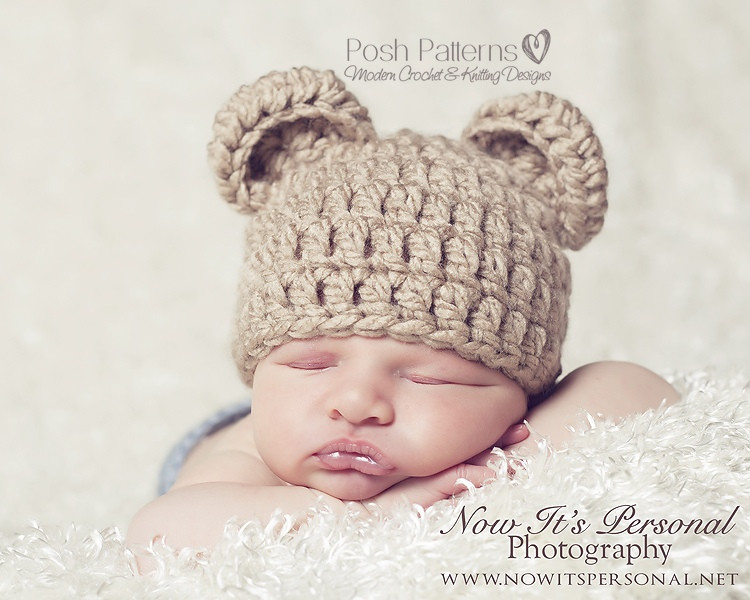 Newborn Baby Hat Crochet Pattern Elegant Bear Hat Crochet Pattern Of Superb 44 Pictures Newborn Baby Hat Crochet Pattern