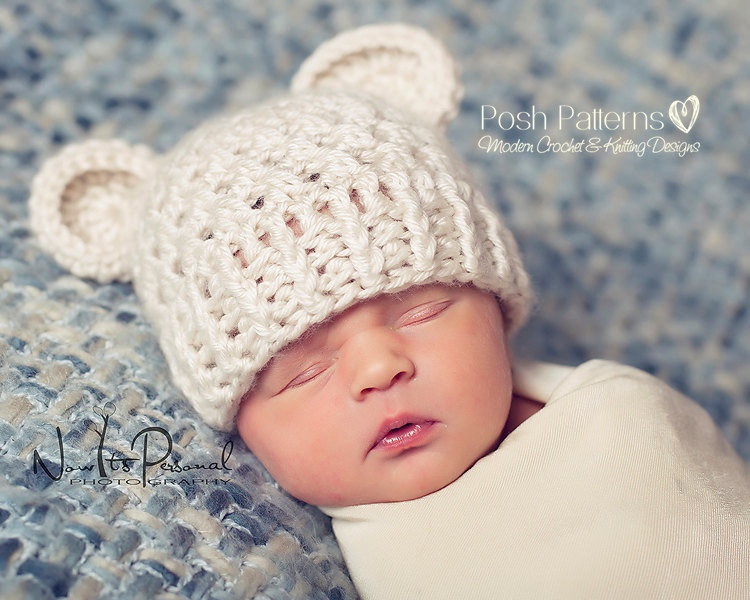 Crochet Pattern Bear Hat Teddy Bear Beanie Pattern