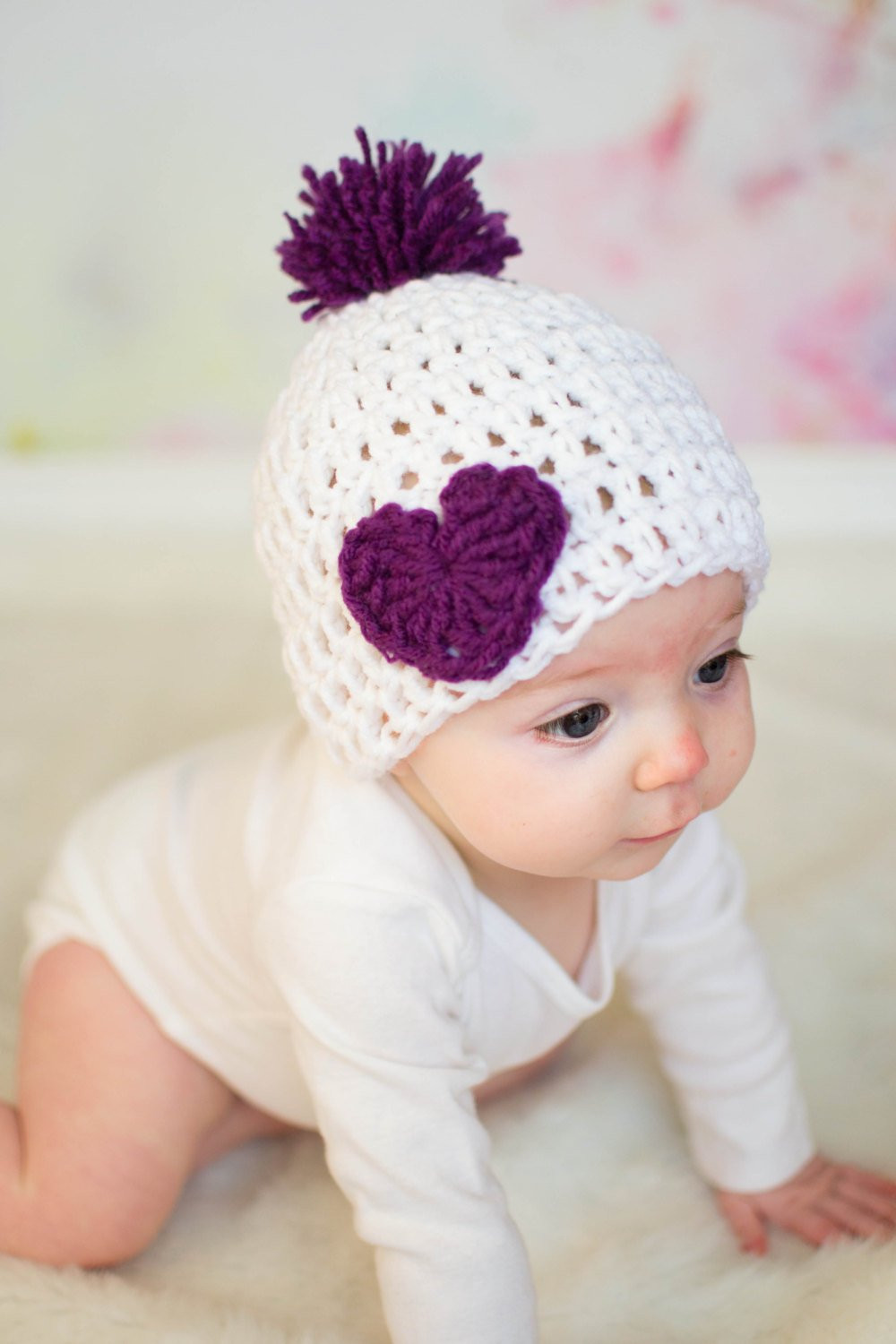 Newborn Baby Hats Elegant Crochet Baby Hat Valentines Day Hat Baby Heart Hat Purple Of Beautiful 48 Pictures Newborn Baby Hats
