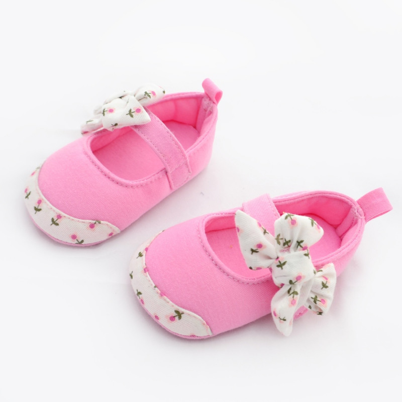 Newborn Baby Sandals Beautiful soft sole Baby Girl Shoes Cute Anti Slip Cotton toddler Of Newborn Baby Sandals Luxury Premie and Newborn Baby Ballet Slippers Metallic Pink