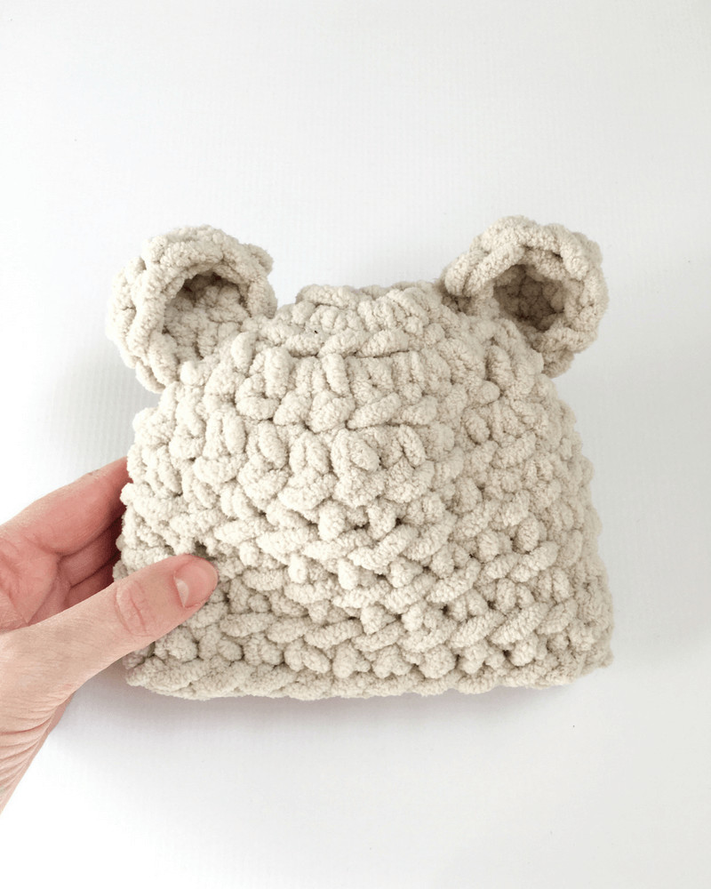 How To Make The Softest Baby Bear Hat Crochet Pattern