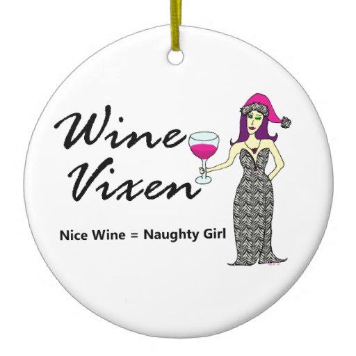 "Nice Christmas ornaments Lovely Wine Vixen ""nice & Naughty"" Holiday Ceramic ornament Of Brilliant 50 Photos Nice Christmas ornaments"