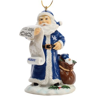 "Nice Christmas ornaments New Kentucky Wildcats 3"" Nice List Santa ornament Cbssports Of Brilliant 50 Photos Nice Christmas ornaments"