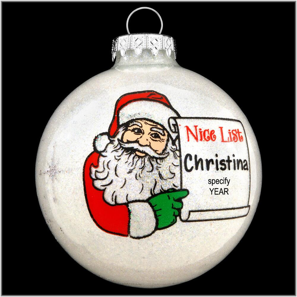 Nice Christmas ornaments New Personalized Santa S Nice List Glass ornament Of Brilliant 50 Photos Nice Christmas ornaments