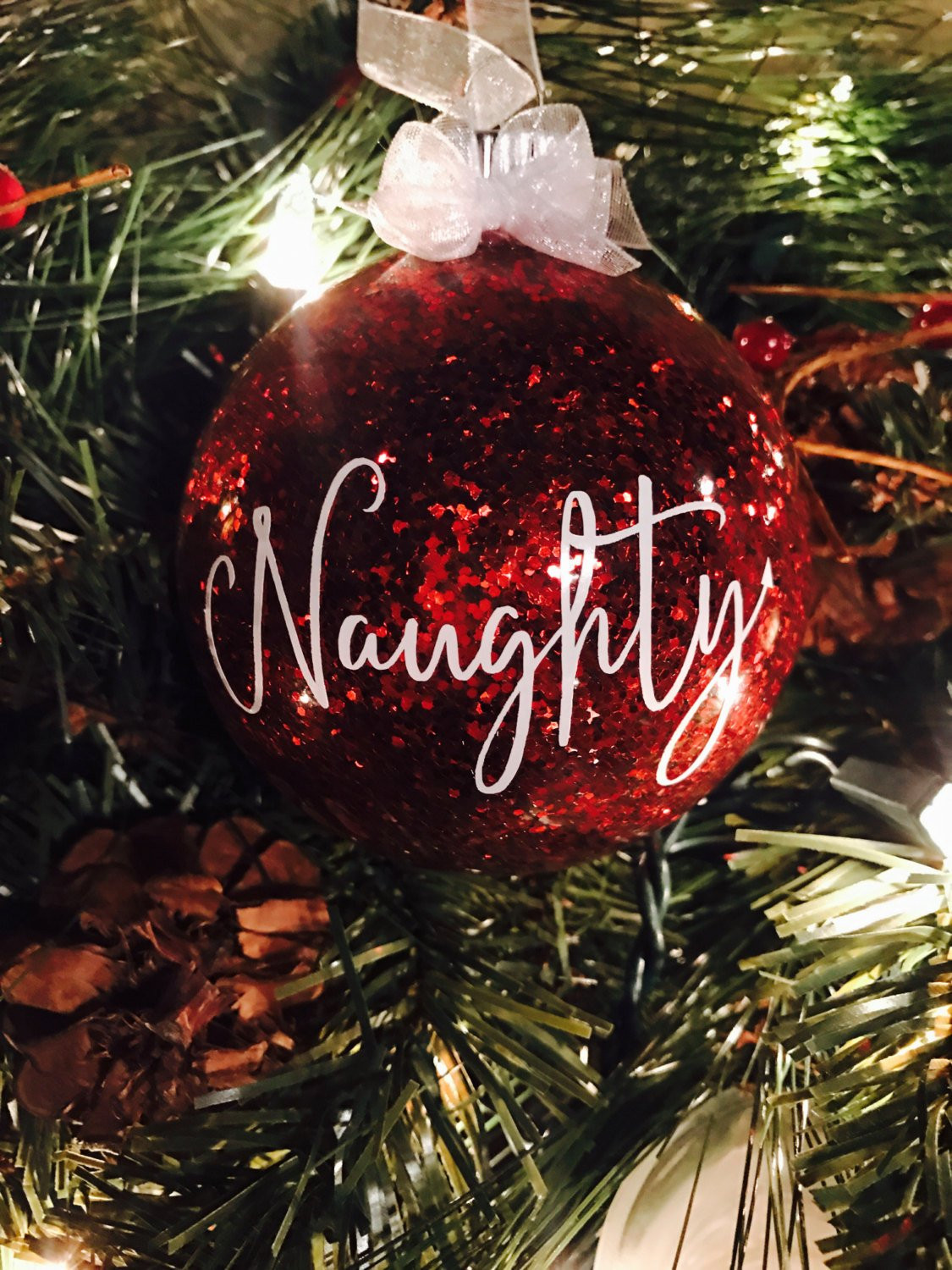 Nice Christmas ornaments Unique Naughty or Nice Christmas ornament by Littlewhiskeyrose On Of Brilliant 50 Photos Nice Christmas ornaments
