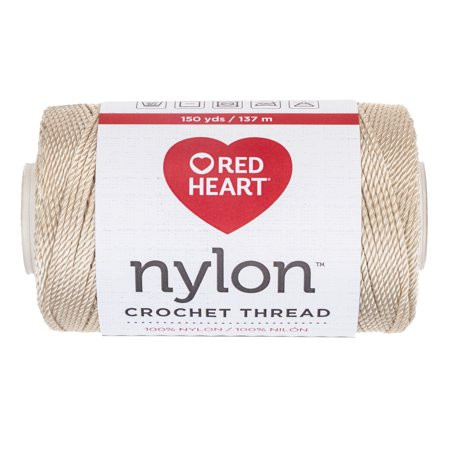 RED HEART CROCHET NYLON 18 NATURAL Walmart