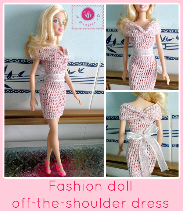 Off the Shoulder Crochet Dress Awesome Crochet Fashion Doll Off the Shoulder Dress Of Perfect 47 Photos Off the Shoulder Crochet Dress