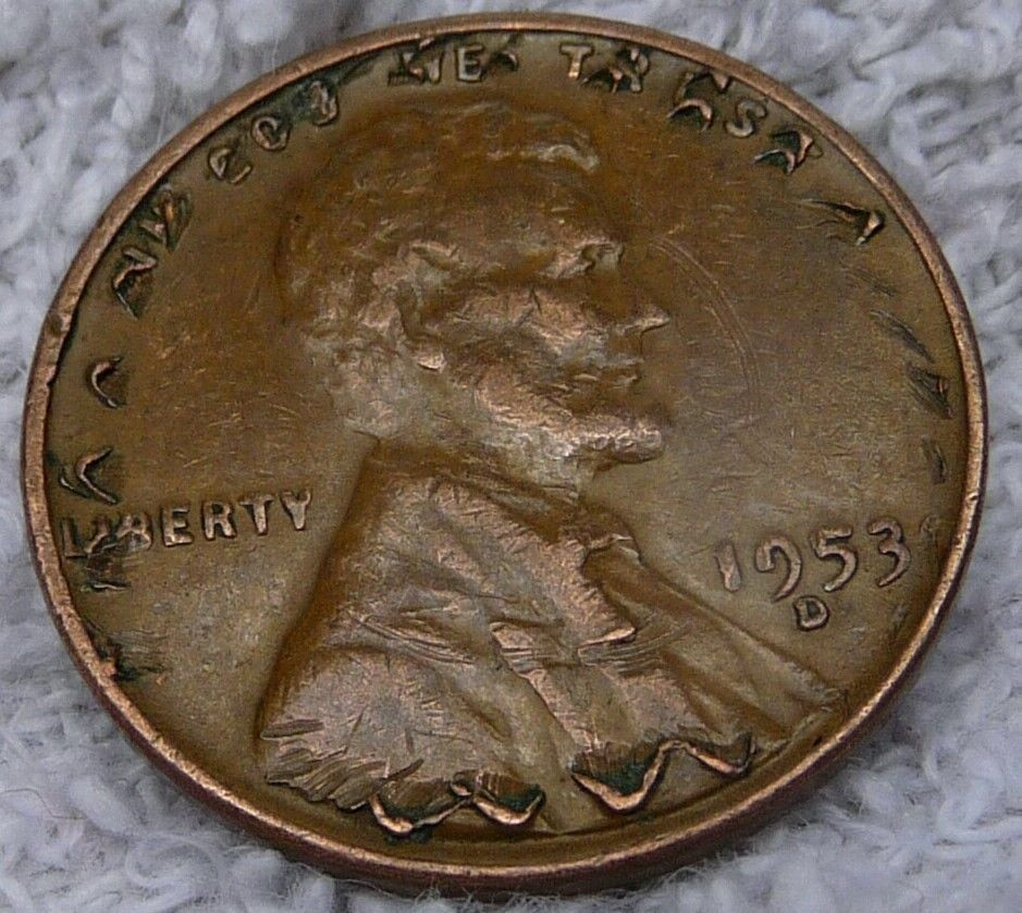 Crazy Rare Penny Error Coin with Multiple Errors 1953 D