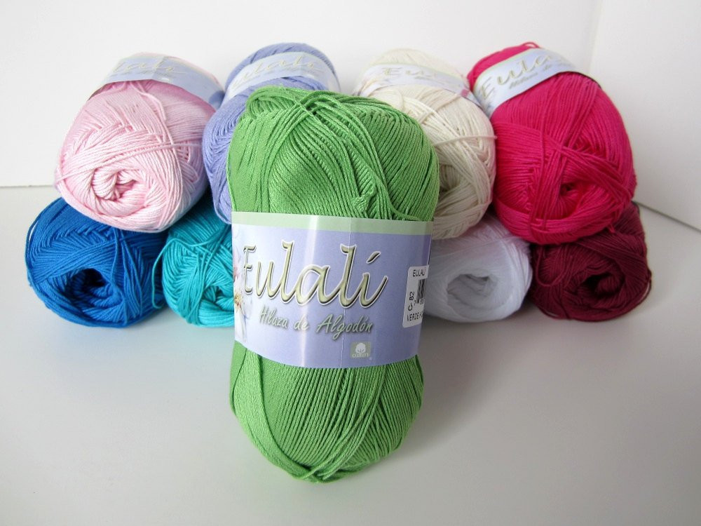 Omega Eulali Cotton Yarn C 82 Lime Verde Hoja by CielosCloset