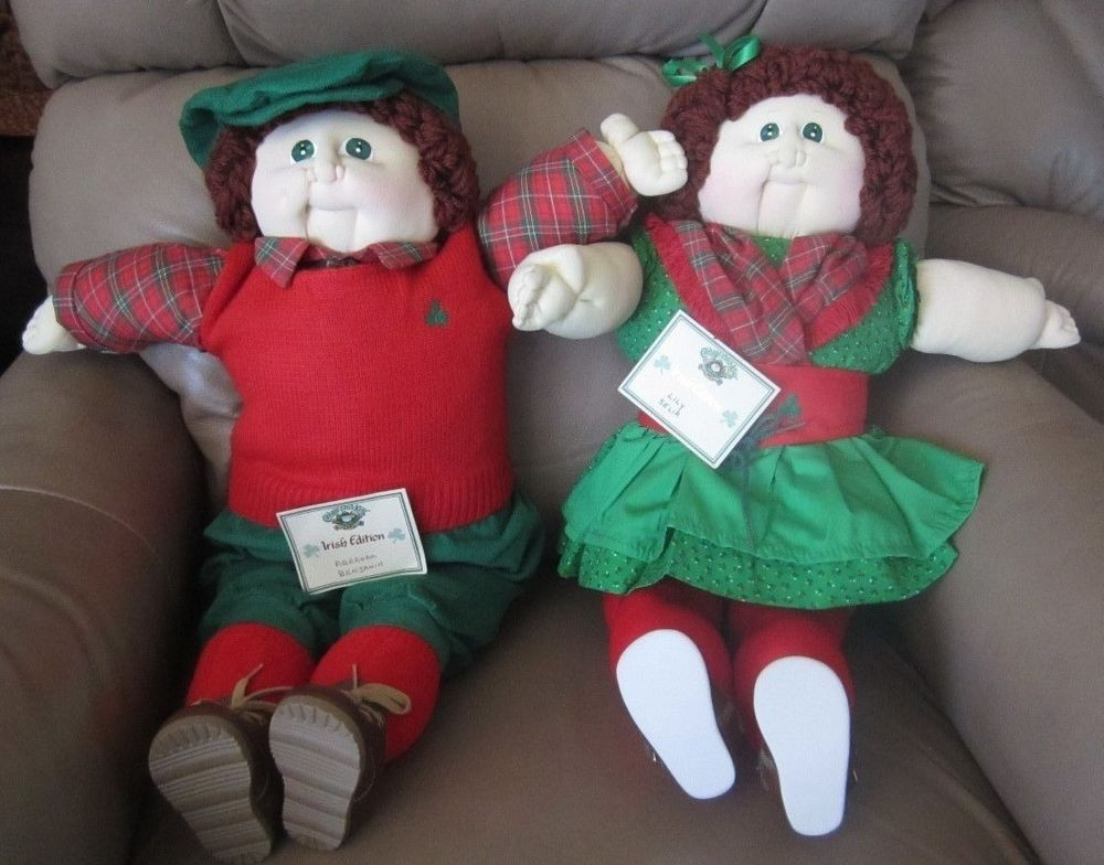 Original Cabbage Patch Dolls Fresh original Cabbage Patch Dolls 2 Doll Set Irish 1985 Of Incredible 43 Ideas original Cabbage Patch Dolls