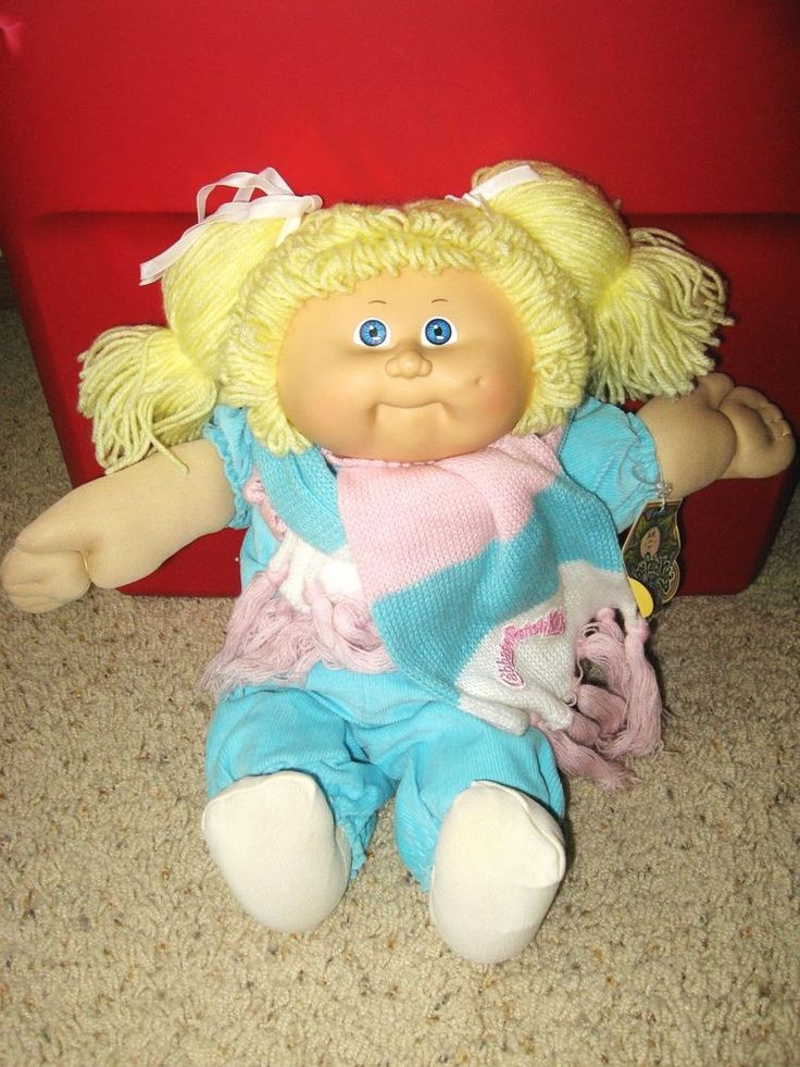 Original Cabbage Patch Kids Awesome Vintage 1983 Cabbage Patch Doll Blonde Yarn Hair W Of New 43 Pictures original Cabbage Patch Kids
