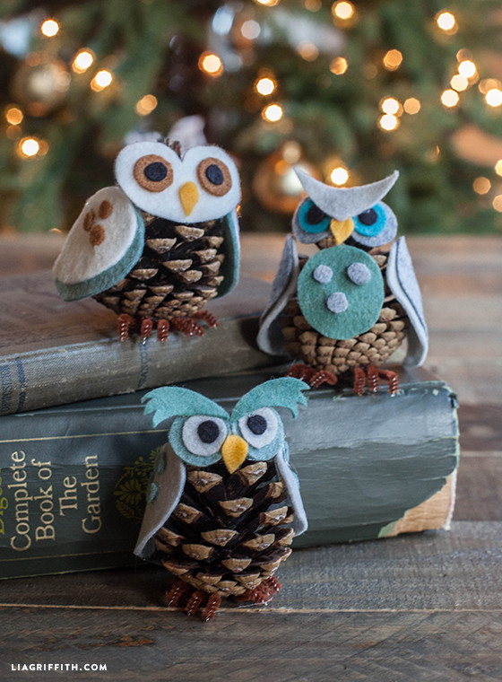 Owl Christmas ornaments Beautiful Kids Craft Felt Pinecone Owl ornaments Of Contemporary 45 Pictures Owl Christmas ornaments