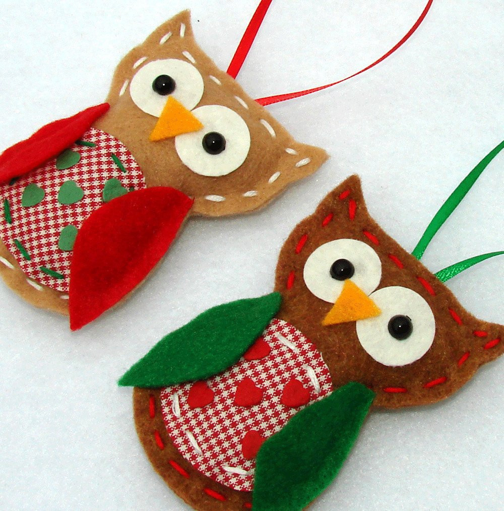 Owl Christmas ornaments Elegant Felt Owl ornaments Christmas Felt Owl ornaments by Of Contemporary 45 Pictures Owl Christmas ornaments