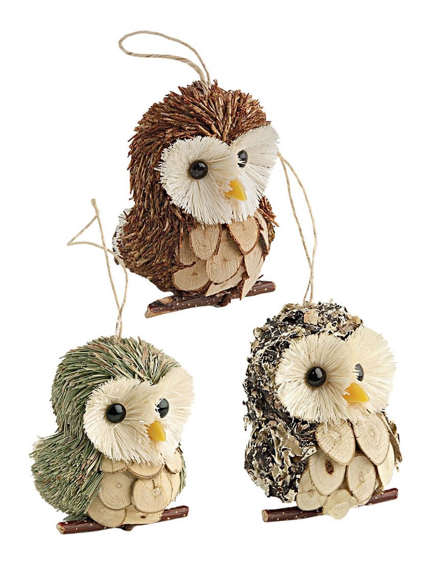 Owl Christmas ornaments Elegant Owl ornaments Set Of 3 for Your Christmas Tree Of Contemporary 45 Pictures Owl Christmas ornaments