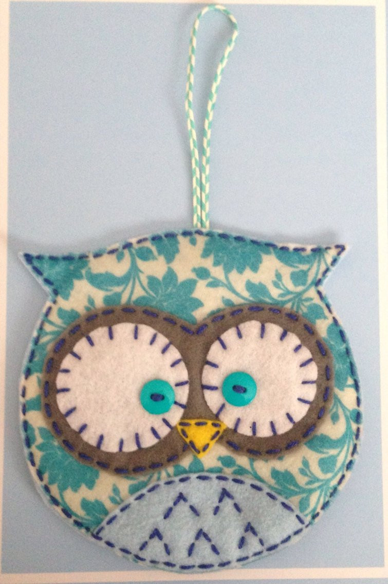 Owl Christmas ornaments Fresh Felt Owl ornament Pocket Christmas Stocking Gift Bag Floral Of Contemporary 45 Pictures Owl Christmas ornaments