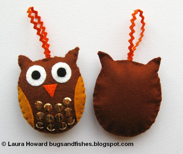 Owl Christmas ornaments Inspirational Bugs and Fishes by Lupin How to Felt Owl ornaments Of Contemporary 45 Pictures Owl Christmas ornaments