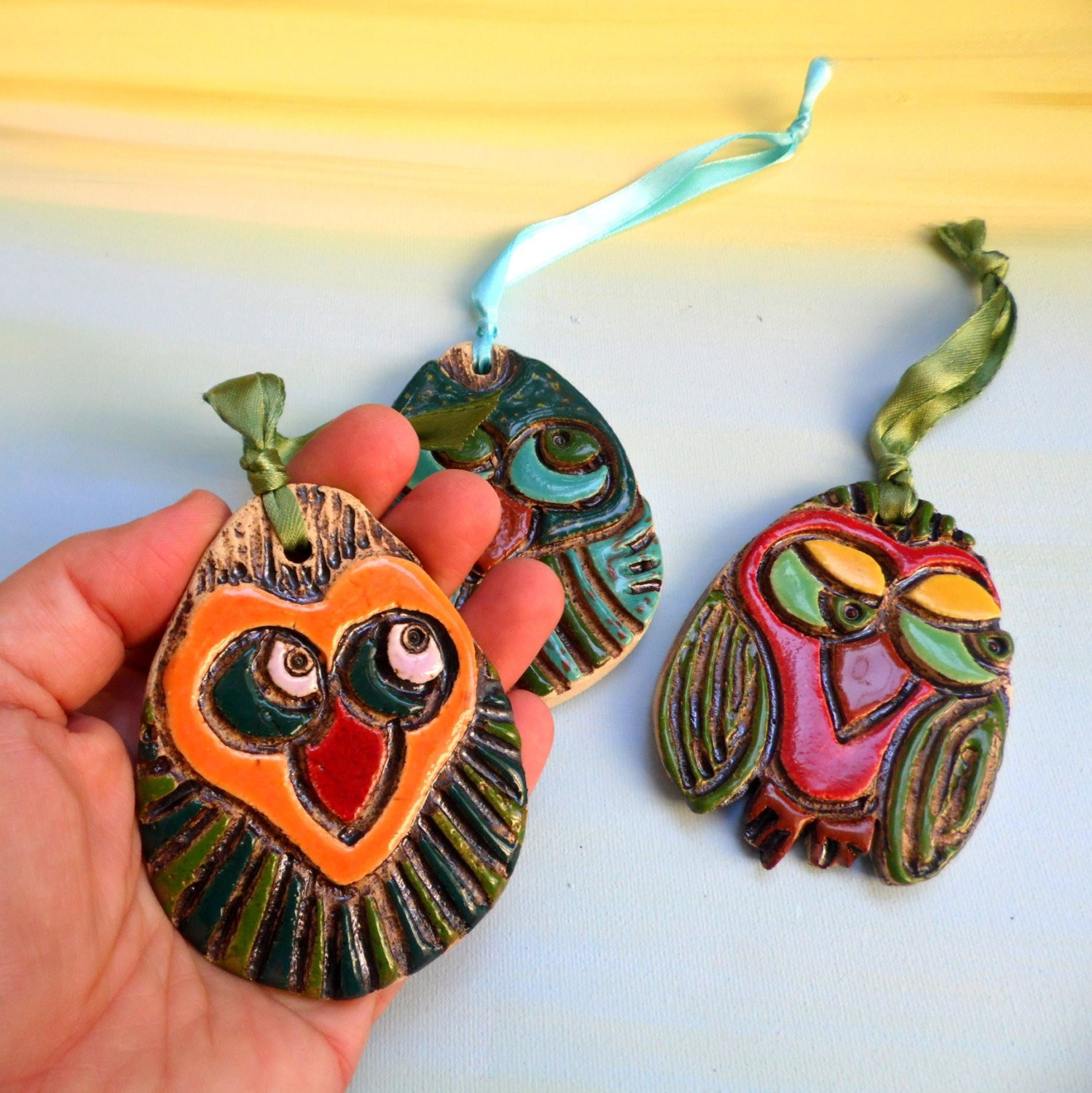 Owl Christmas ornaments Inspirational Christmas Owl ornaments 3 Ceramic Christmas ornaments Set Of Contemporary 45 Pictures Owl Christmas ornaments