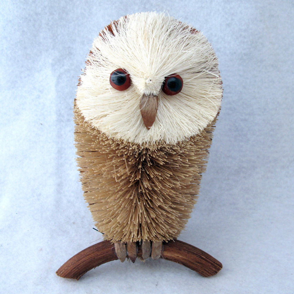 Owl Christmas ornaments Luxury Martha Stewart Buri Bristle Natural Animal Christmas Of Contemporary 45 Pictures Owl Christmas ornaments