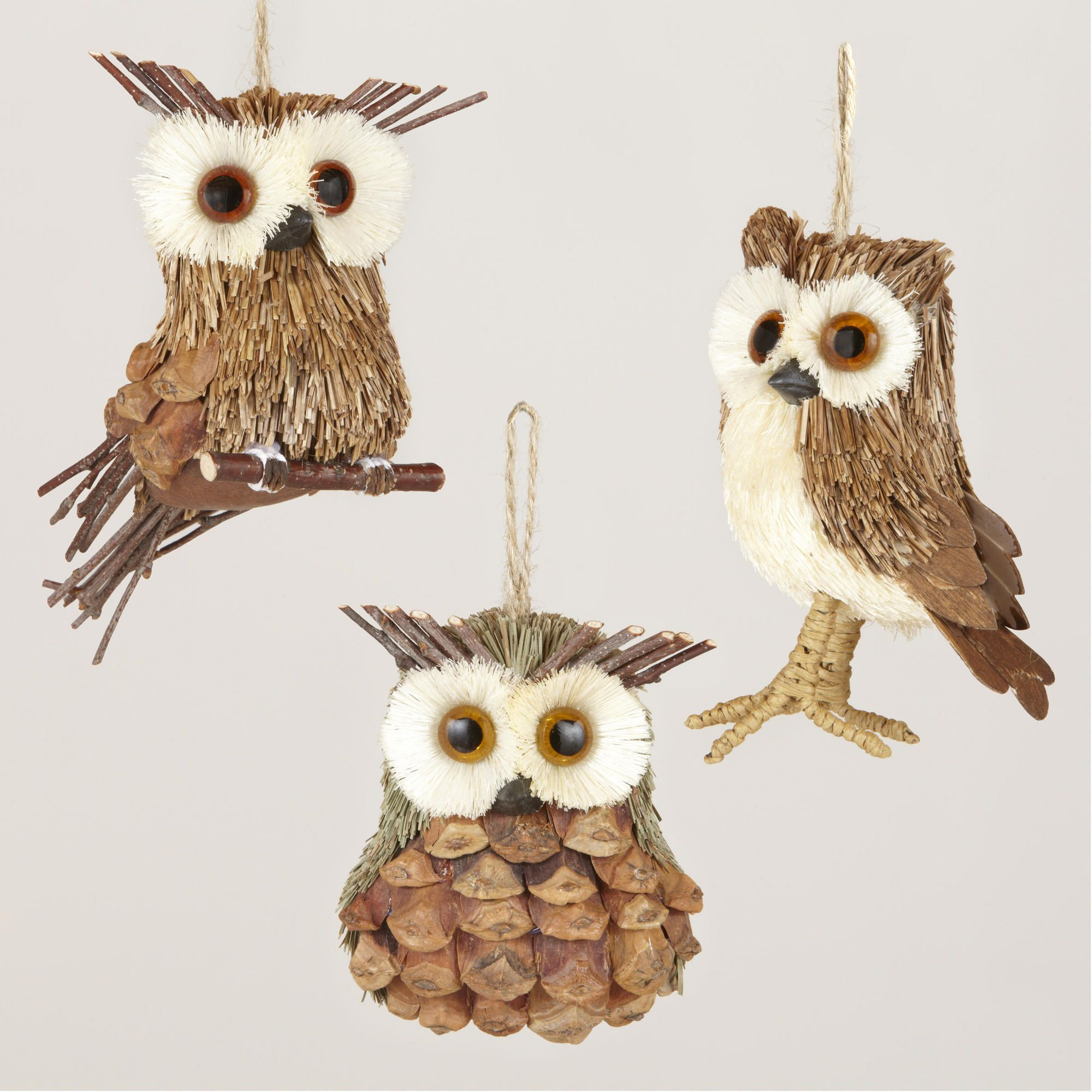 Owl Christmas ornaments New Natural Fiber Owl ornaments Of Contemporary 45 Pictures Owl Christmas ornaments
