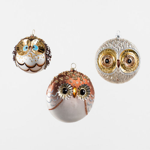 Owl Christmas ornaments Unique Glass Owl Ball Tree ornaments Of Contemporary 45 Pictures Owl Christmas ornaments