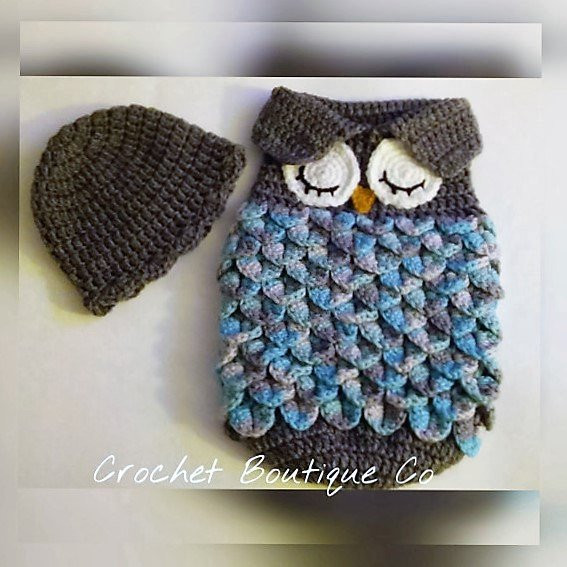 Owl Cocoon Crochet Pattern Awesome Crochet Pattern Sleepy Owl Baby Cocoon Papoose & Hat In 0 3 Of Perfect 44 Models Owl Cocoon Crochet Pattern