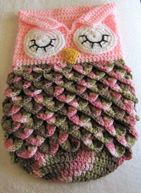 Owl Cocoon Crochet Pattern Beautiful Crochet Baby Blanket Owl Cocoon Pinned for Inspiration Of Perfect 44 Models Owl Cocoon Crochet Pattern