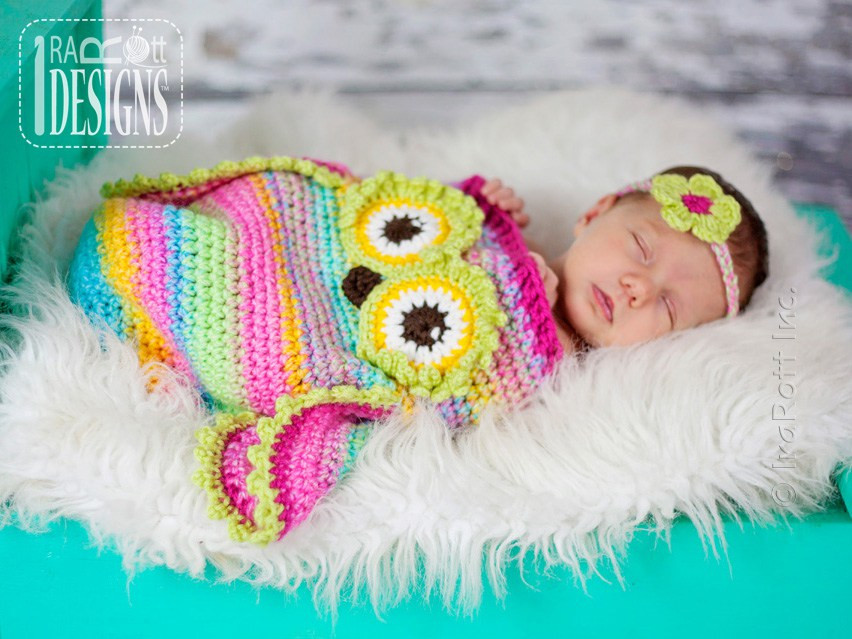 Owl Cocoon Crochet Pattern Elegant Ava the Owl Baby Cocoon and Hat Set with Matching Headband Of Perfect 44 Models Owl Cocoon Crochet Pattern