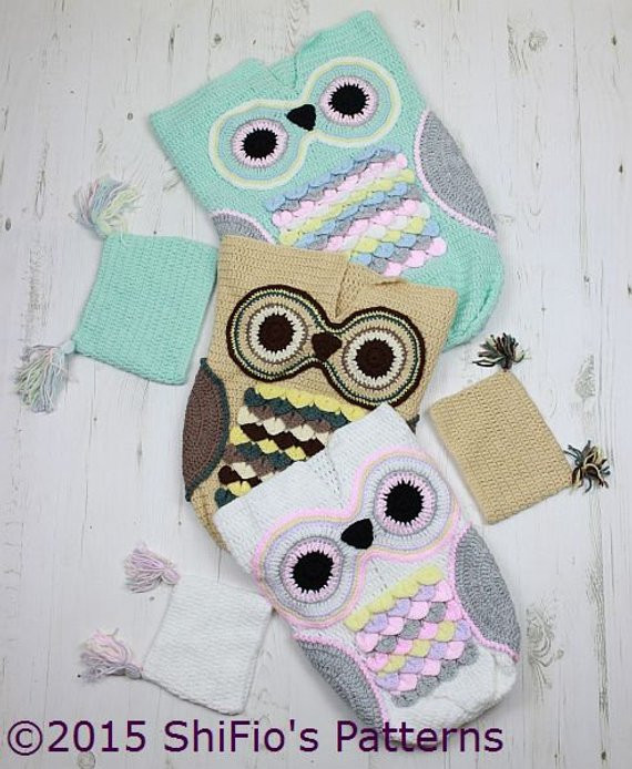 Owl Cocoon Crochet Pattern Elegant Crochet Pattern for Owl Baby Cocoon Papoose & Hat In 3 Sizes Of Perfect 44 Models Owl Cocoon Crochet Pattern