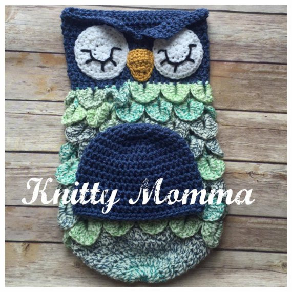 Owl Cocoon Crochet Pattern Fresh Owl Cocoon Pattern Owl and Hat Set Sleeping Sac Owl Prop Of Perfect 44 Models Owl Cocoon Crochet Pattern