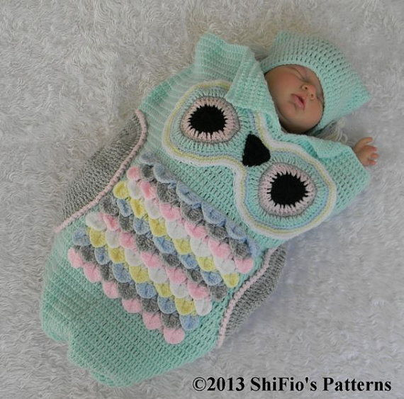 Owl Cocoon Crochet Pattern Inspirational 35 Adorable Crochet and Knitted Baby Cocoon Patterns Of Perfect 44 Models Owl Cocoon Crochet Pattern