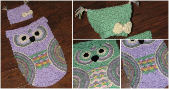 How To Crochet Baby Owl Cocoon And Hat