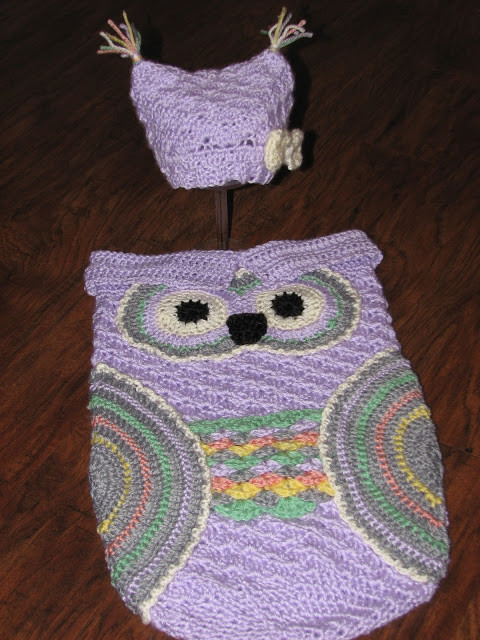 Creative Crochet by Becky Crochet Baby Owl Cocoon with