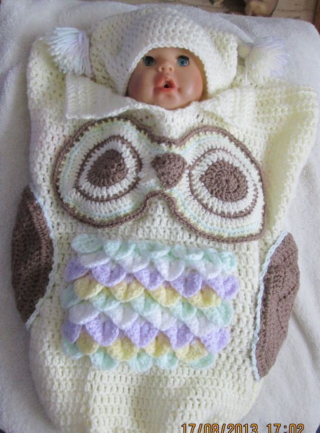Owl Cocoon Crochet Pattern New Hats for Babies Crochet Owls and Hand Crochet On Pinterest Of Perfect 44 Models Owl Cocoon Crochet Pattern