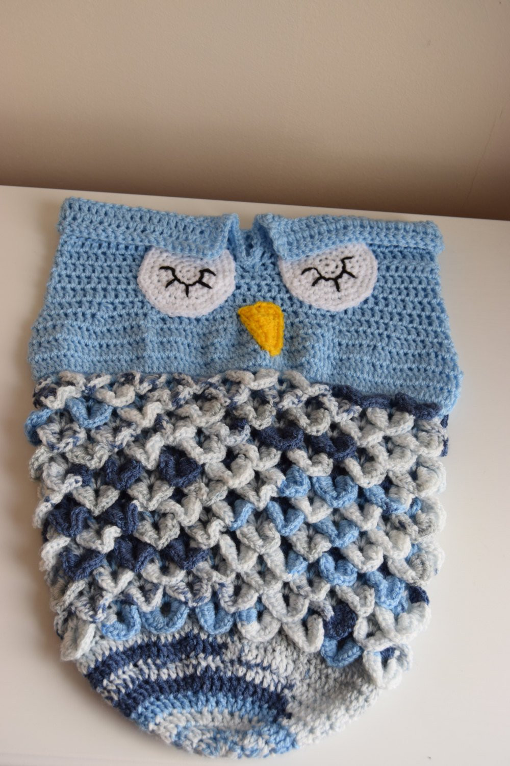 Owl Cocoon Crochet Pattern New Owl Cocoon Crochet Baby Owl Cocoon Baby Sack Photo Prop Of Perfect 44 Models Owl Cocoon Crochet Pattern