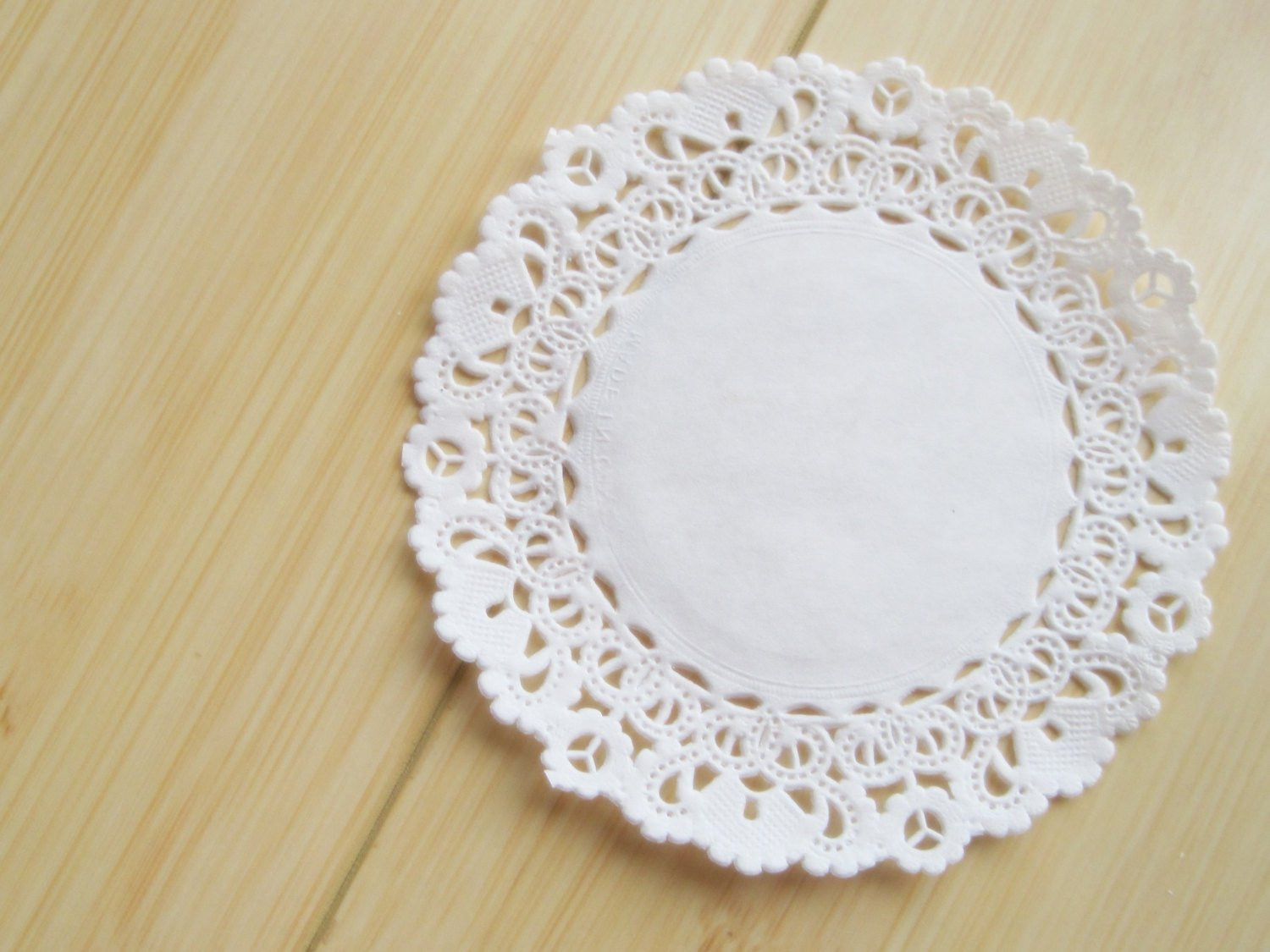 50 white paper lace doily doilies 4 inch
